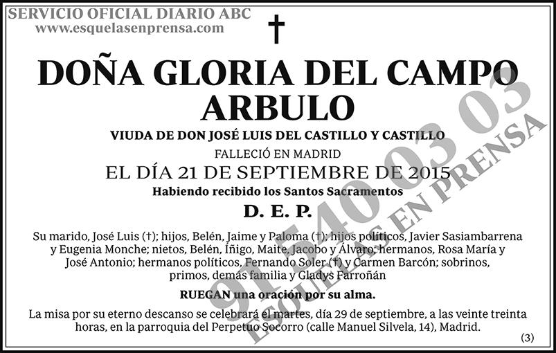Gloria del Campo Arbulo
